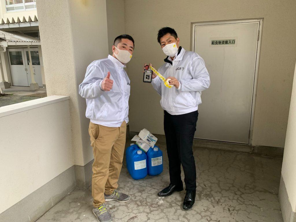 出田理事長と新谷副委員長(研修委員会)